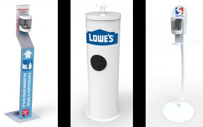 Pakit Displays manufactures sanitizing systems