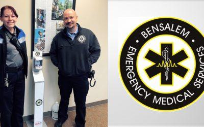 Pakit shows their appreciation to Bensalem EMS Rescue Squad